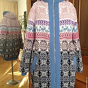 Одежда handmade. Livemaster - original item Winter knitted jacket