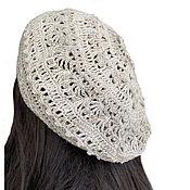 Аксессуары handmade. Livemaster - original item Summer openwork beret