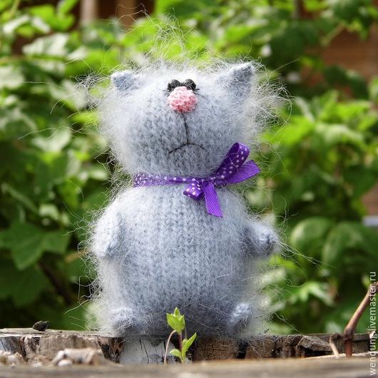 Игрушки животные, ручной работы. Ярмарка Мастеров - ручная работа. Купить Кот по мотивам Тани Оробец. Handmade. Серый, подарок