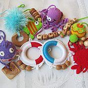 Куклы и игрушки ручной работы. Ярмарка Мастеров - ручная работа развивающая игрушка - грызунок - погремушка. Handmade.