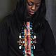"""Кофты и свитера ручной работы. Ярмарка Мастеров - ручная работа. Купить Свитшот из коллекции """"African Art"""". Handmade. Черный"""