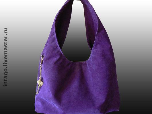 Handbags handmade. Livemaster - handmade. Buy 'Magic violet'. Bag suede purple..Purple, bag, purple suede, bag leather