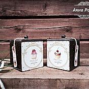 """Для дома и интерьера ручной работы. Ярмарка Мастеров - ручная работа Короб для чая, кофе """"Время пить чай"""". Handmade."""