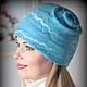 Felted Hat 'Queen of the gentle'winter. Caps. Felt the world. Online shopping on My Livemaster.  Фото №2