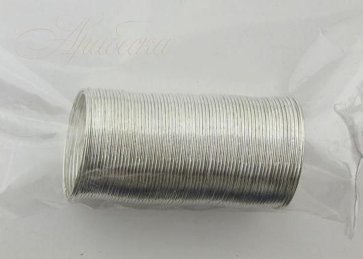 Проволока с памятью для кольца серебряного цвета 48витков BEADSMITH