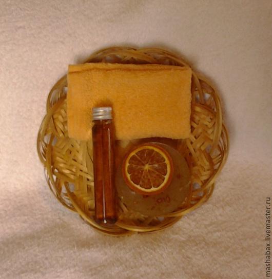 Подарочные наборы косметики ручной работы. Ярмарка Мастеров - ручная работа. Купить Набор мини Апельсин Корица. Handmade. Подарок