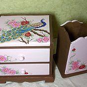 """Для дома и интерьера ручной работы. Ярмарка Мастеров - ручная работа набор """"павлин"""". Handmade."""