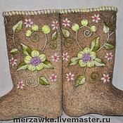 """Обувь ручной работы. Ярмарка Мастеров - ручная работа Валенки """"Райские Яблочки"""". Handmade."""
