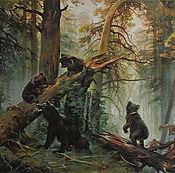 """Картины ручной работы. Ярмарка Мастеров - ручная работа Копия """"Утро в сосновом лесу"""". Handmade."""