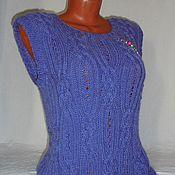 Одежда handmade. Livemaster - original item Vest knitted Amethyst. Handmade.