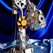"""Для дома и интерьера ручной работы. Ярмарка Мастеров - ручная работа Настольная лампа """"Cyber-junk"""". Handmade."""