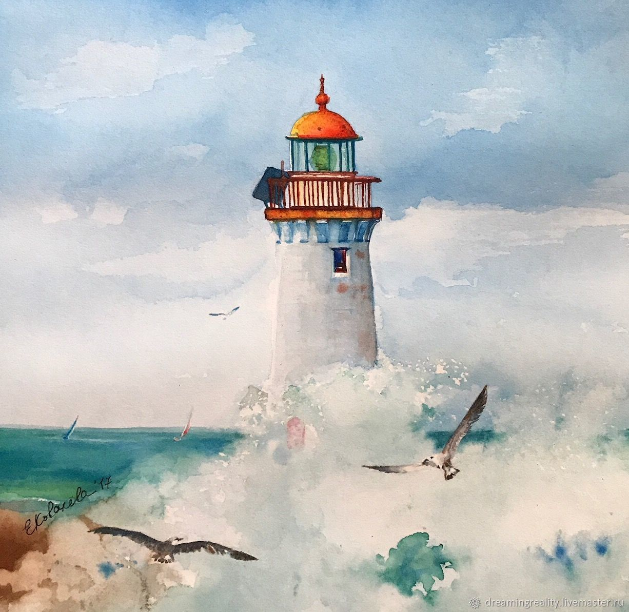 постер море с маяком карликовая планета