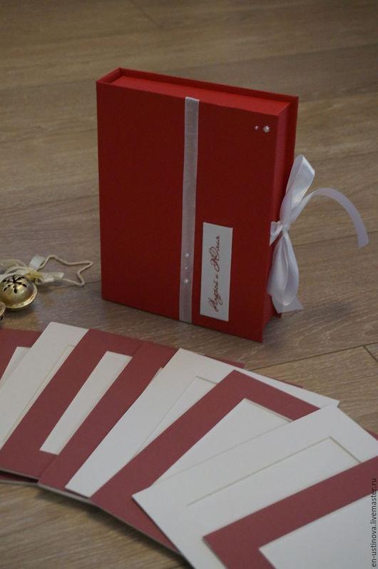 Персональные подарки ручной работы. Ярмарка Мастеров - ручная работа. Купить Короб для паспарту, набор фотографа. Handmade. Ярко-красный