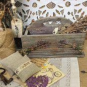 Для дома и интерьера ручной работы. Ярмарка Мастеров - ручная работа Корзинка Лаванда. Handmade.