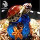 """Миниатюрные модели ручной работы. Ярмарка Мастеров - ручная работа. Купить Сувенирный напёрсток """"Морская черепашка"""". Handmade. Подарок"""