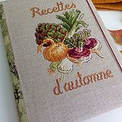 Канцелярские товары handmade. Livemaster - original item Notebook for recipes cross stitch Autumn. Handmade.