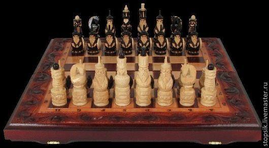 Настольные игры ручной работы. Ярмарка Мастеров - ручная работа. Купить Шахматы, нарды, шашки Узоры 10278. Handmade. Нарды