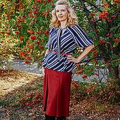 handmade. Livemaster - original item Skirts: Skirt made of Italian wool, Raspberry sorbet. Handmade.