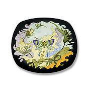 Посуда handmade. Livemaster - original item Porcelain decorative plate.