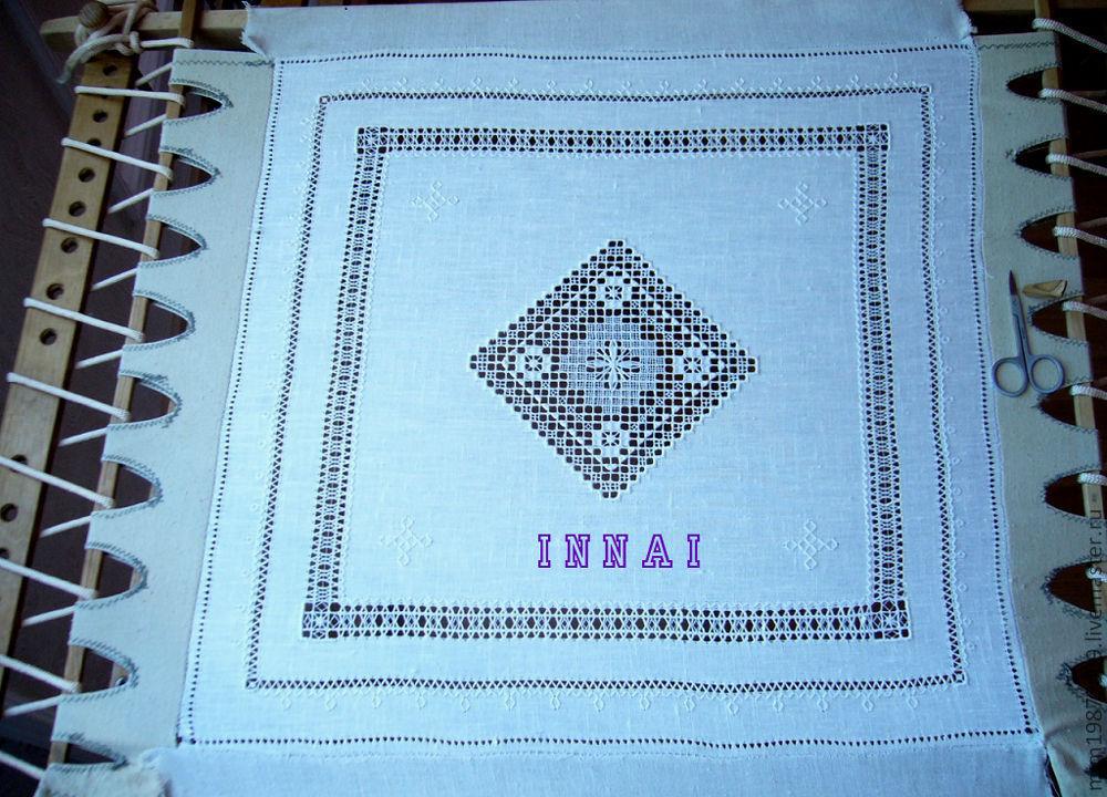 Maritime Len tissue paper sea foam len embroidery openwork retro shop