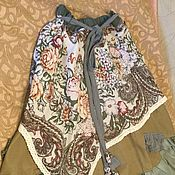 Одежда ручной работы. Ярмарка Мастеров - ручная работа Юбка бохо стиль зелёная листопад. Handmade.