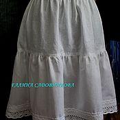 Юбки ручной работы. Ярмарка Мастеров - ручная работа Нижняя юбка из хлопка. Handmade.