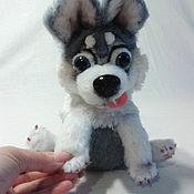 Куклы и игрушки handmade. Livemaster - original item a Husky puppy. Handmade.
