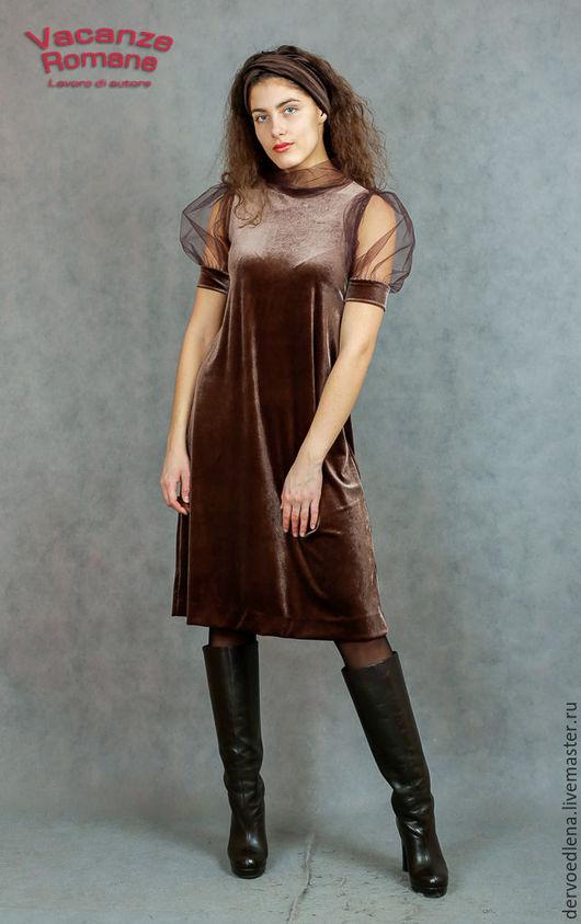 Платья ручной работы. Ярмарка Мастеров - ручная работа. Купить Vacanze Romane-546/3. Handmade. Однотонный, стильное платье