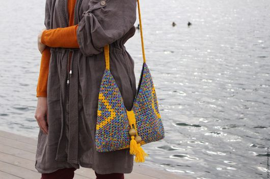 Женские сумки ручной работы. Ярмарка Мастеров - ручная работа. Купить Сумка ''Boho''. Handmade. Сумка, аксессуары, квадрат, бохо