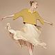 Блузки ручной работы. Ярмарка Мастеров - ручная работа. Купить Комплект. Льняная блузка с юбкой из натурального шифона. Handmade. Лен