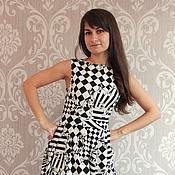 """Одежда ручной работы. Ярмарка Мастеров - ручная работа Платье """"Шахматная партия"""". Handmade."""