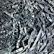 Материалы для творчества ручной работы. Ярмарка Мастеров - ручная работа Бумажный наполнитель серый. Handmade.