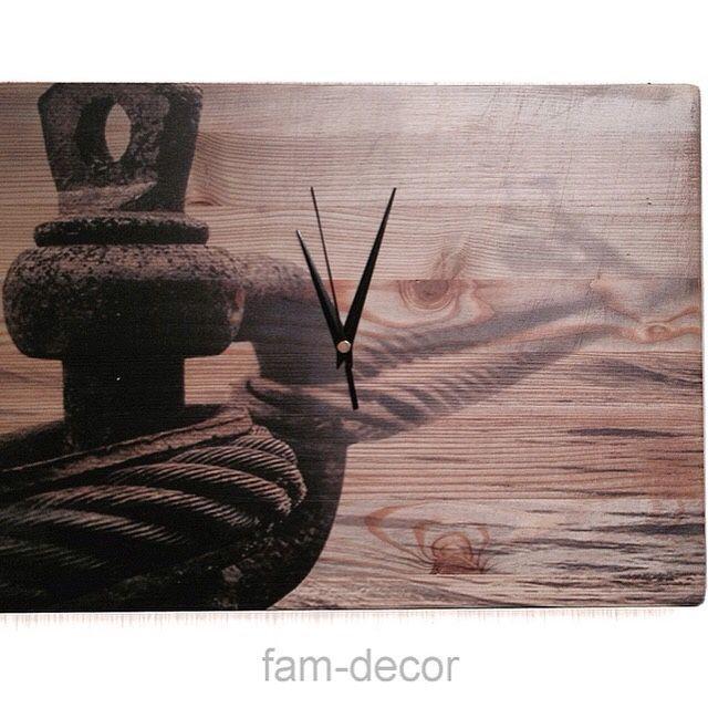 Часы для дома ручной работы. Ярмарка Мастеров - ручная работа. Купить Часы Причал. Handmade. Море, часы настенные, печаль