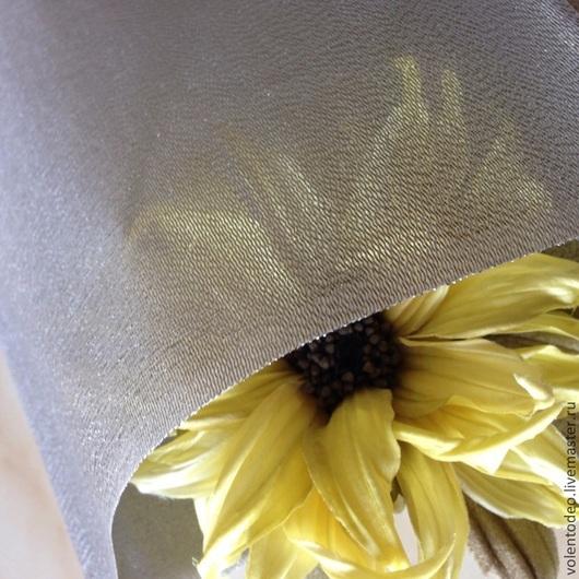 Ткань для цветов ручной работы. Ярмарка Мастеров - ручная работа. Купить Ткань для цветоделия- хагоромо шах серебро. Handmade. Серебряный