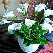 Цветы и флористика ручной работы. Ярмарка Мастеров - ручная работа Каллы - моя керамическая флористика. Handmade.