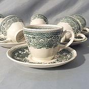 Винтаж handmade. Livemaster - original item Cup saucer pair porcelain Germany, Villeroy Boch Villeroy. Handmade.
