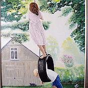 """Картины и панно ручной работы. Ярмарка Мастеров - ручная работа Картина маслом """"Босоногое детство"""". Handmade."""