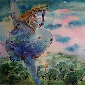 Картины и панно ручной работы. Ярмарка Мастеров - ручная работа Акварель Арфа. Handmade.