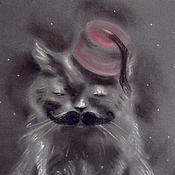 """Картины и панно ручной работы. Ярмарка Мастеров - ручная работа Картина пастелью """"Кот Стамбул"""". Handmade."""