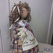 Куклы и игрушки ручной работы. Ярмарка Мастеров - ручная работа Фиалковый ангел Белли (прекрасная). Handmade.