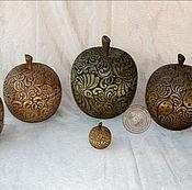 Для дома и интерьера ручной работы. Ярмарка Мастеров - ручная работа шкатулки яблоки. Handmade.
