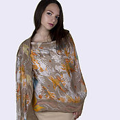 Аксессуары handmade. Livemaster - original item Tippet silk and wool