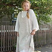 Одежда ручной работы. Ярмарка Мастеров - ручная работа Летний льняной бохо сарафан. Handmade.