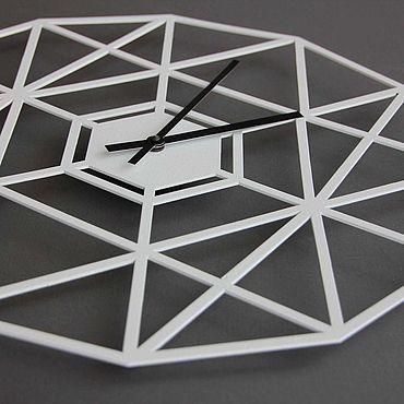 Для дома и интерьера. Ярмарка Мастеров - ручная работа Часы: Настенные часы Geometry. Handmade.