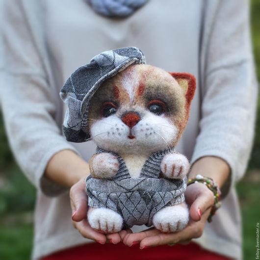`Федька` - котик из натуральной шерсти