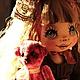 Коллекционные куклы ручной работы. Ярмарка Мастеров - ручная работа. Купить Галя и медведь. Handmade. Коллекционная кукла, текстильная кукла