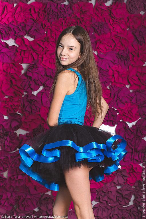 Одежда для девочек, ручной работы. Ярмарка Мастеров - ручная работа. Купить Волшебная юбочка из фатина -1. Handmade. Синий