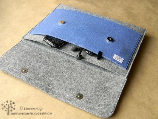 Сумки для ноутбуков ручной работы. Ярмарка Мастеров - ручная работа. Купить Чехол для ноутбука/планшета. Handmade. Чехол, felt cover