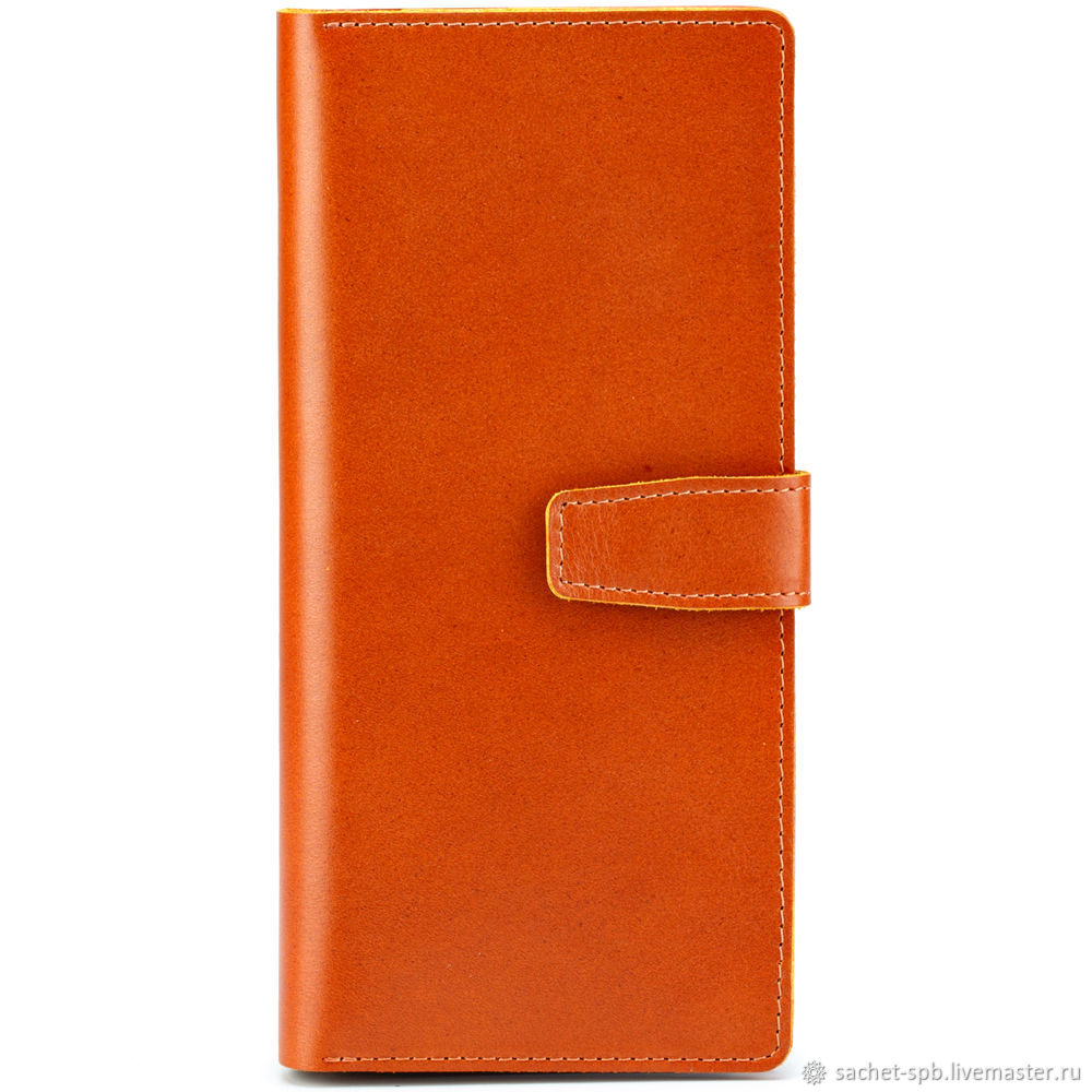 Leather wallet 'travel' with RFid protection (red), Purse, St. Petersburg,  Фото №1