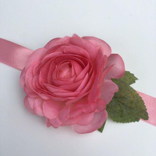 Свадебные украшения ручной работы. Ярмарка Мастеров - ручная работа. Купить Браслет для подружек невесты с розой на девичник (свадьбу). Handmade.